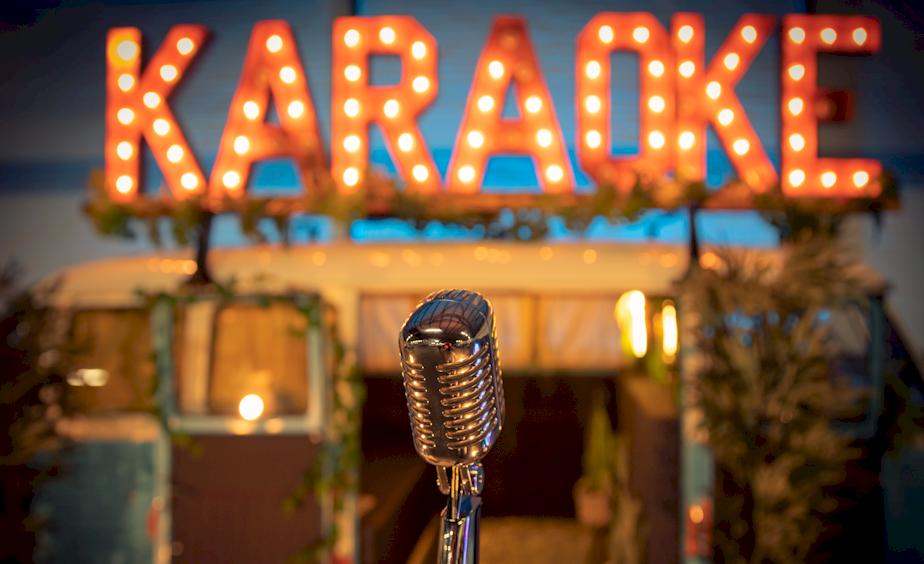 mobiele karaoke chrome microfoon