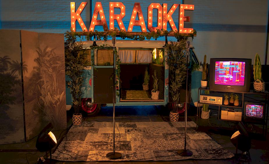 mobiele karaoke decor