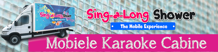 Sing-a-long Shower de mobiele karaoke pop-up cabine